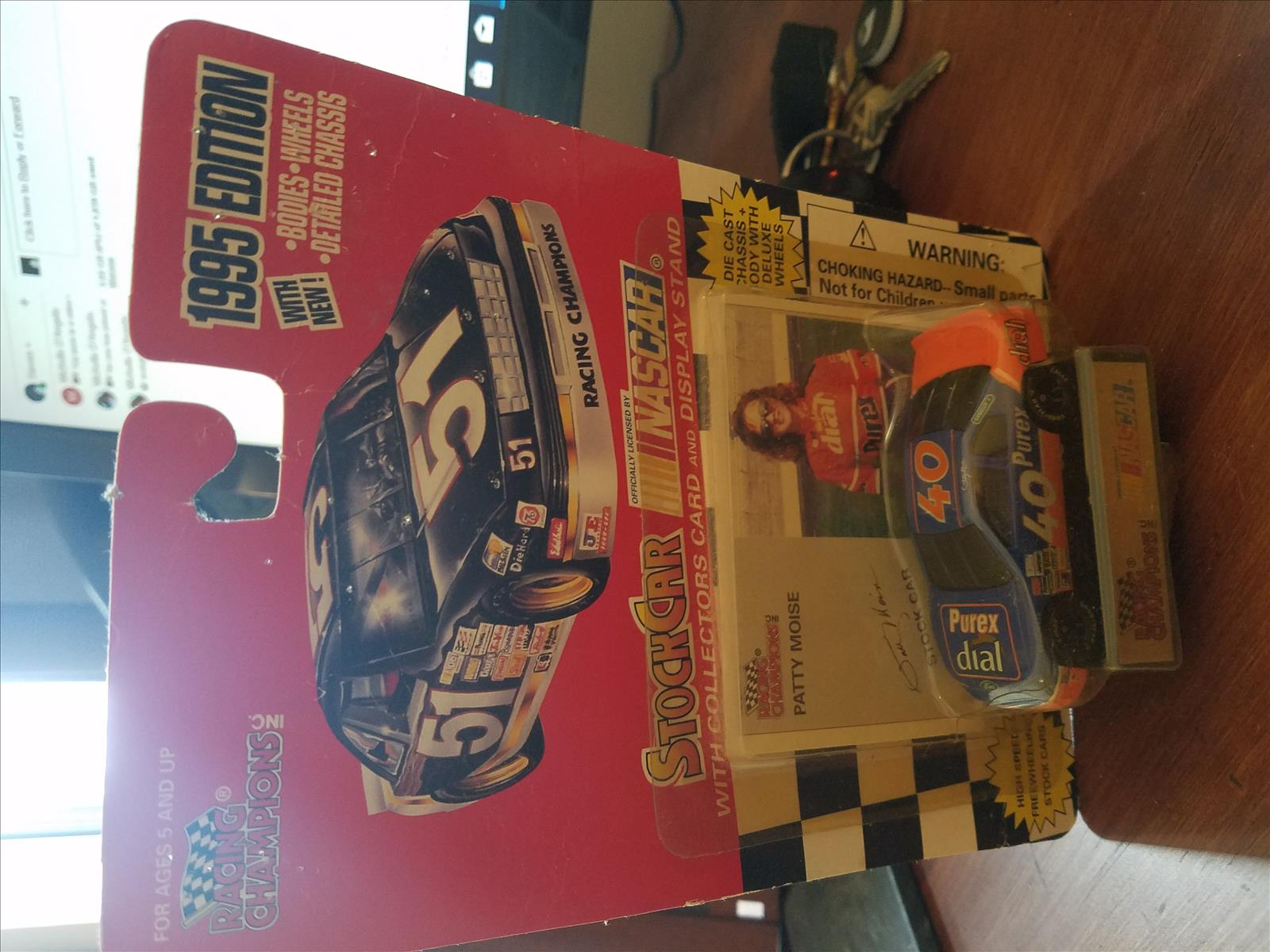1995 Patty Moise NASCAR Diecast 20 Dial Purex CWC 1:64 Racing Champions 1995 Edition 1