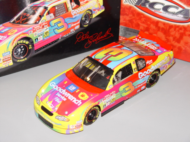 2000 Dale Earnhardt Sr NASCAR Diecast 3 GMGW GM Goodwrench Peter Max CWB 1:24 Action RCCA Clear Window Bank 1