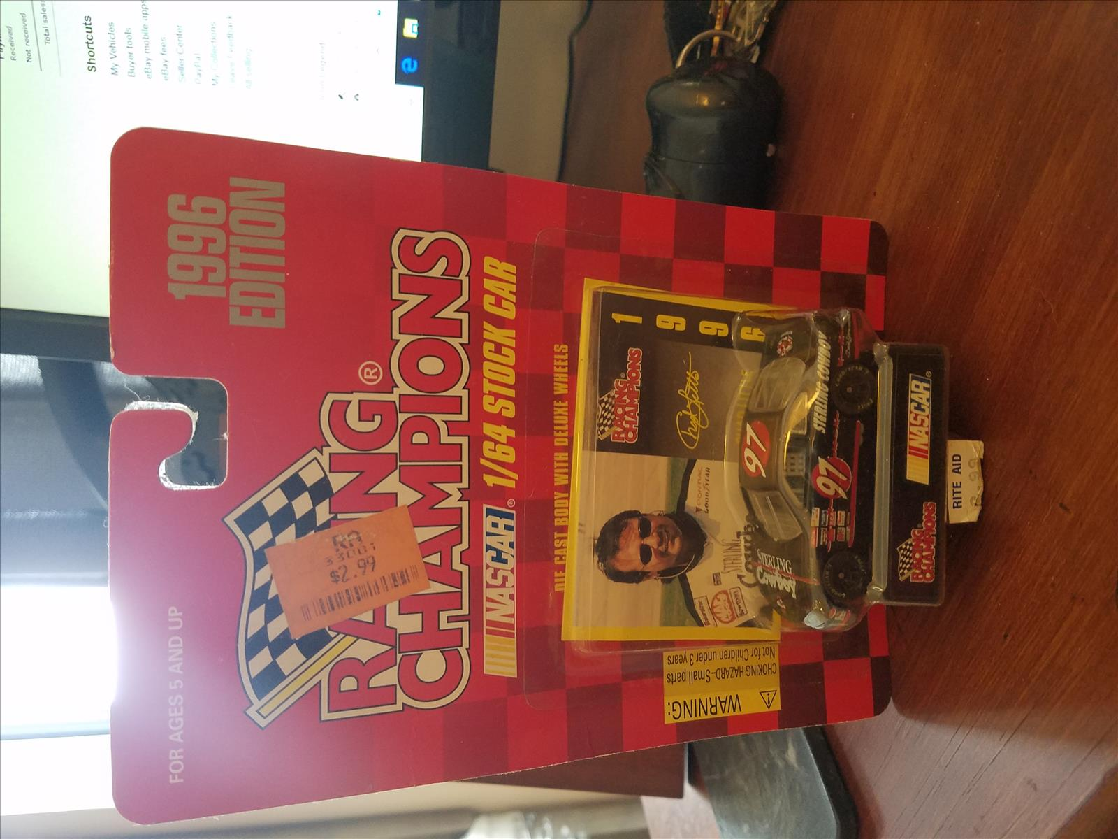 1996 Chad Little NASCAR Diecast 97 Sterling Cowboy CWC 1:64 Racing Champions 1996 Edition 1