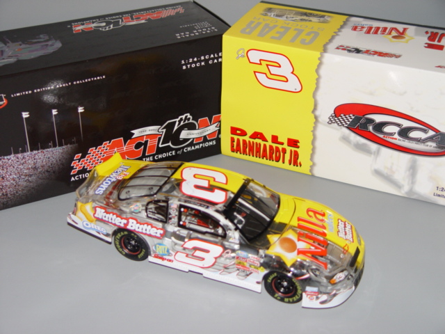 2002 Dale Earnhardt Jr NASCAR Diecast 3 Nilla Wafers Nutter Butter CWC 1:24 Action RCCA Half Split Clear Car 1
