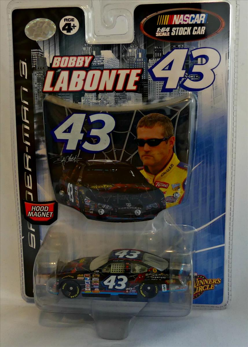 2007 Bobby Labonte NASCAR Diecast 43 Spiderman CWC 1:64 Winners Circle Hood Magnet 1