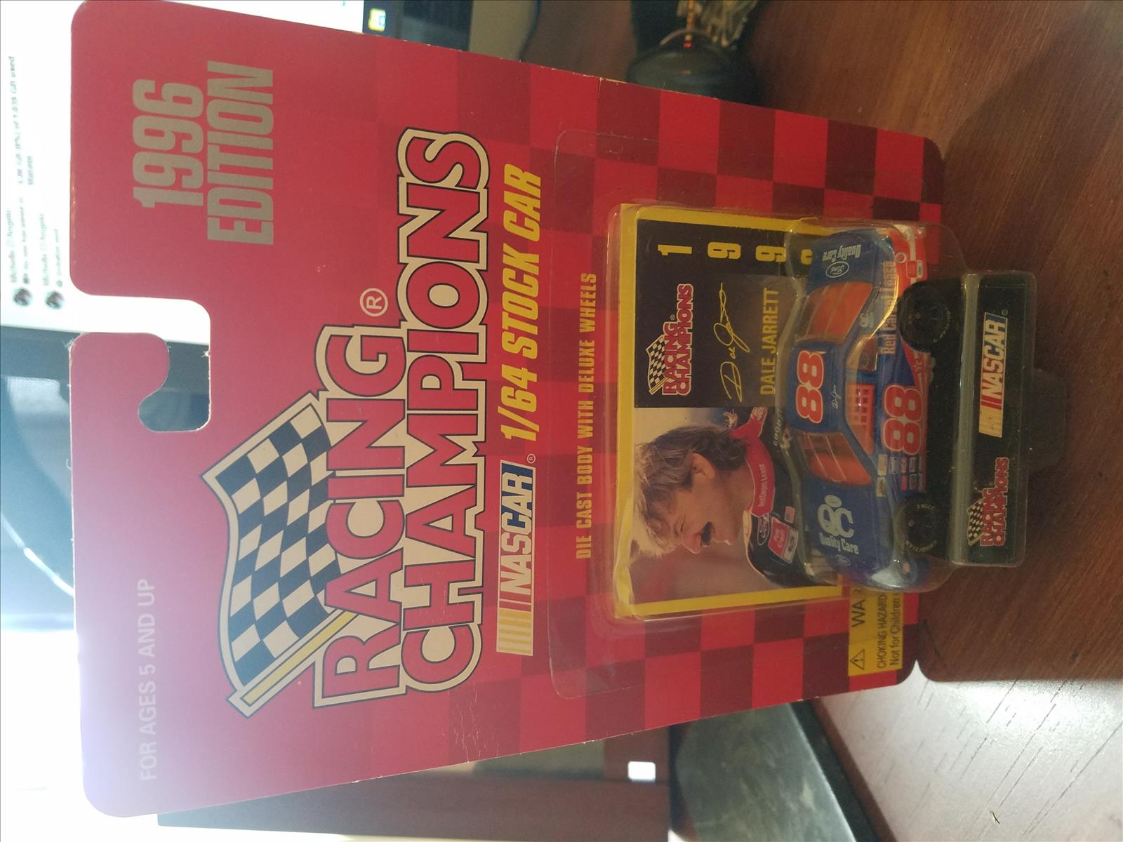 1996 Dale Jarrett NASCAR Diecast 88 QC Quality Care CWC 1:64 Racing Champions 1996 Edition 1