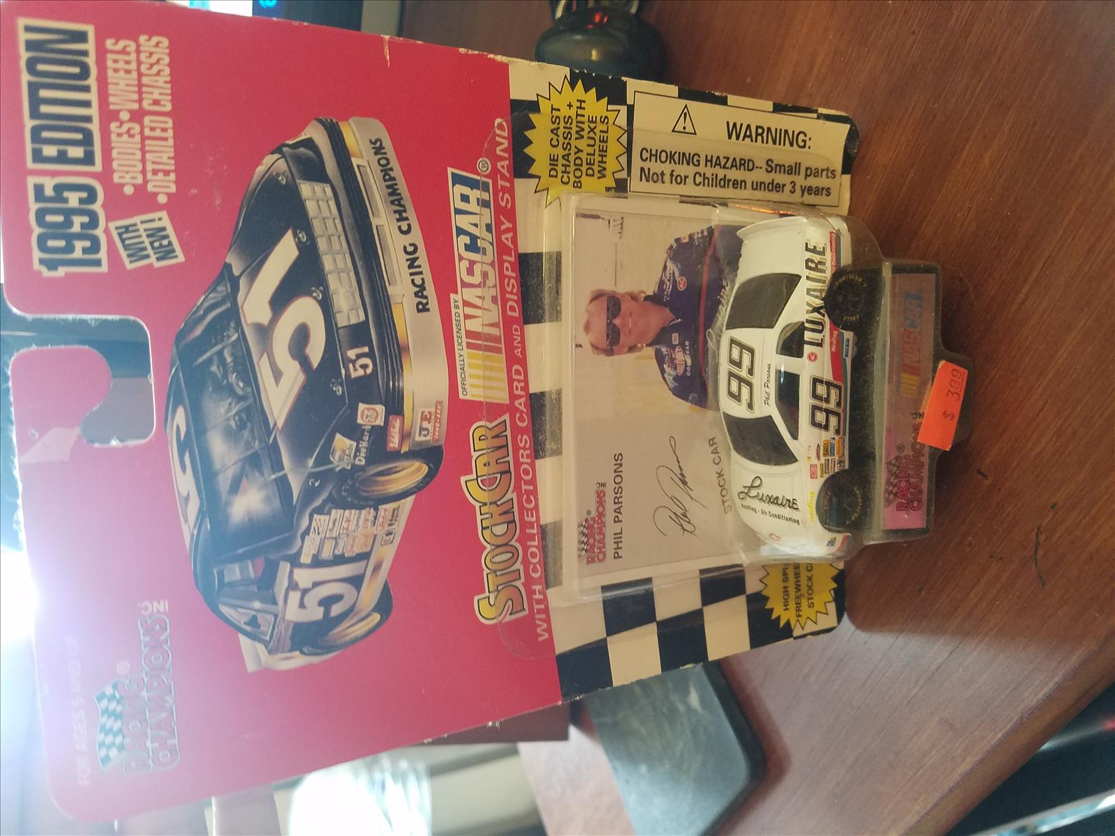 1995 Phil Parsons NASCAR Diecast 99 Luxaire CWC 1:64 Racing Champions 1995 Edition 1