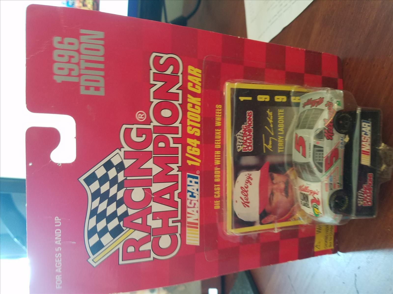 1996 Terry Labonte NASCAR Diecast 5 Kelloggs Iron Man CWC 1:64 Racing Champions 1996 Edition 1