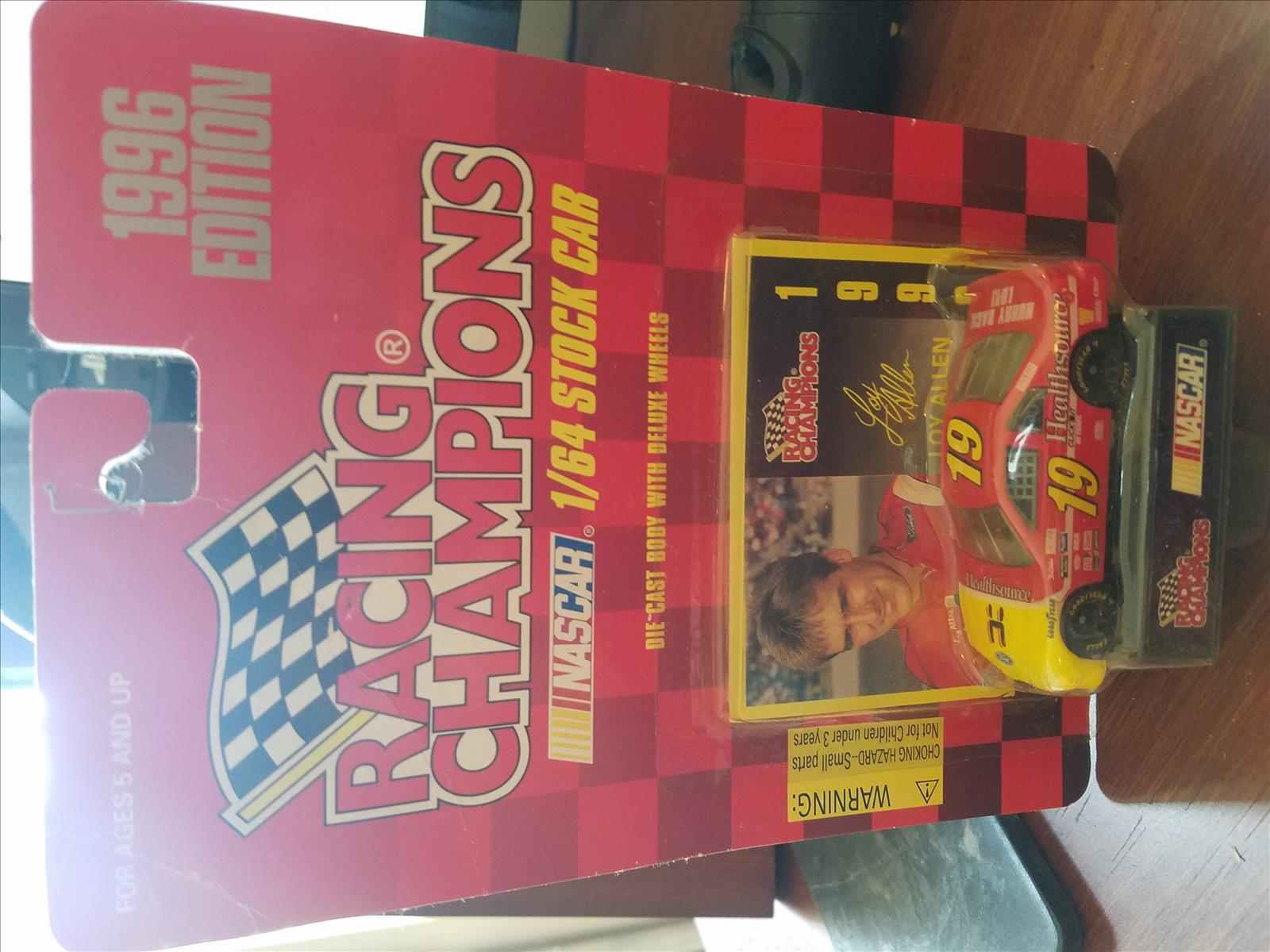 1996 Loy Allen NASCAR Diecast 19 Health Source Healthsource CWC 1:64 Racing Champions 1996 Edition 1