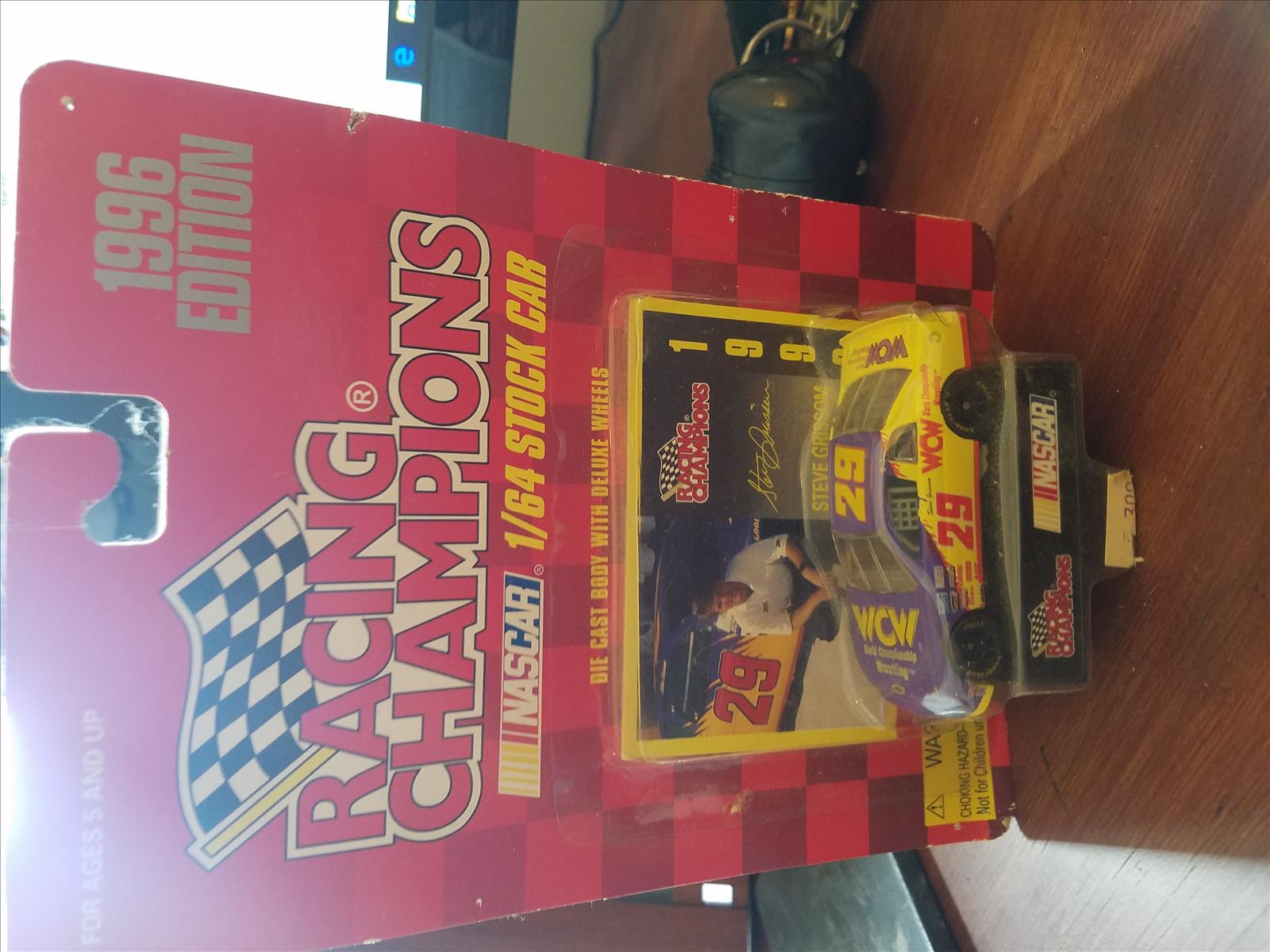 1996 Steve Grissom NASCAR Diecast 29 WCW CWC 1:64 Racing Champions 1996 Edition 1