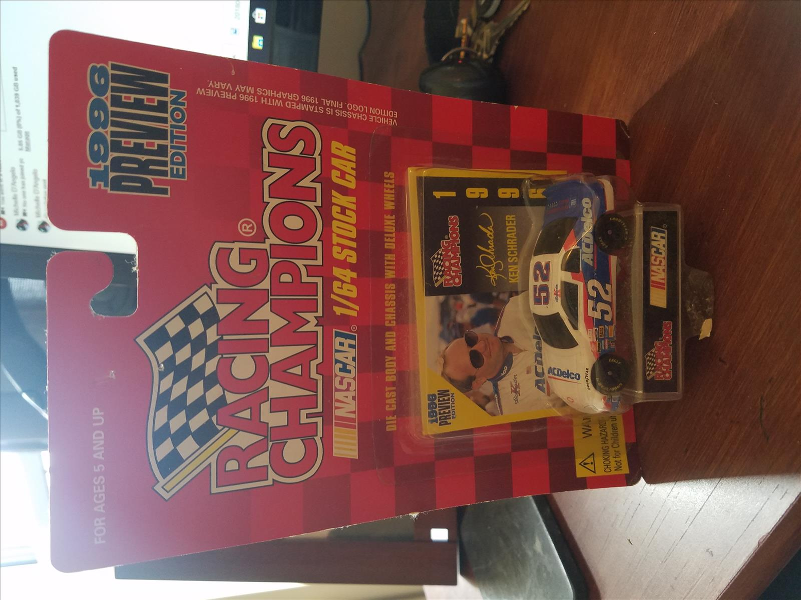 1996 Ken Schrader NASCAR Diecast 52 ACDelco AC Delco CWC 1:64 Racing Champions 1996 Edition Preview 1