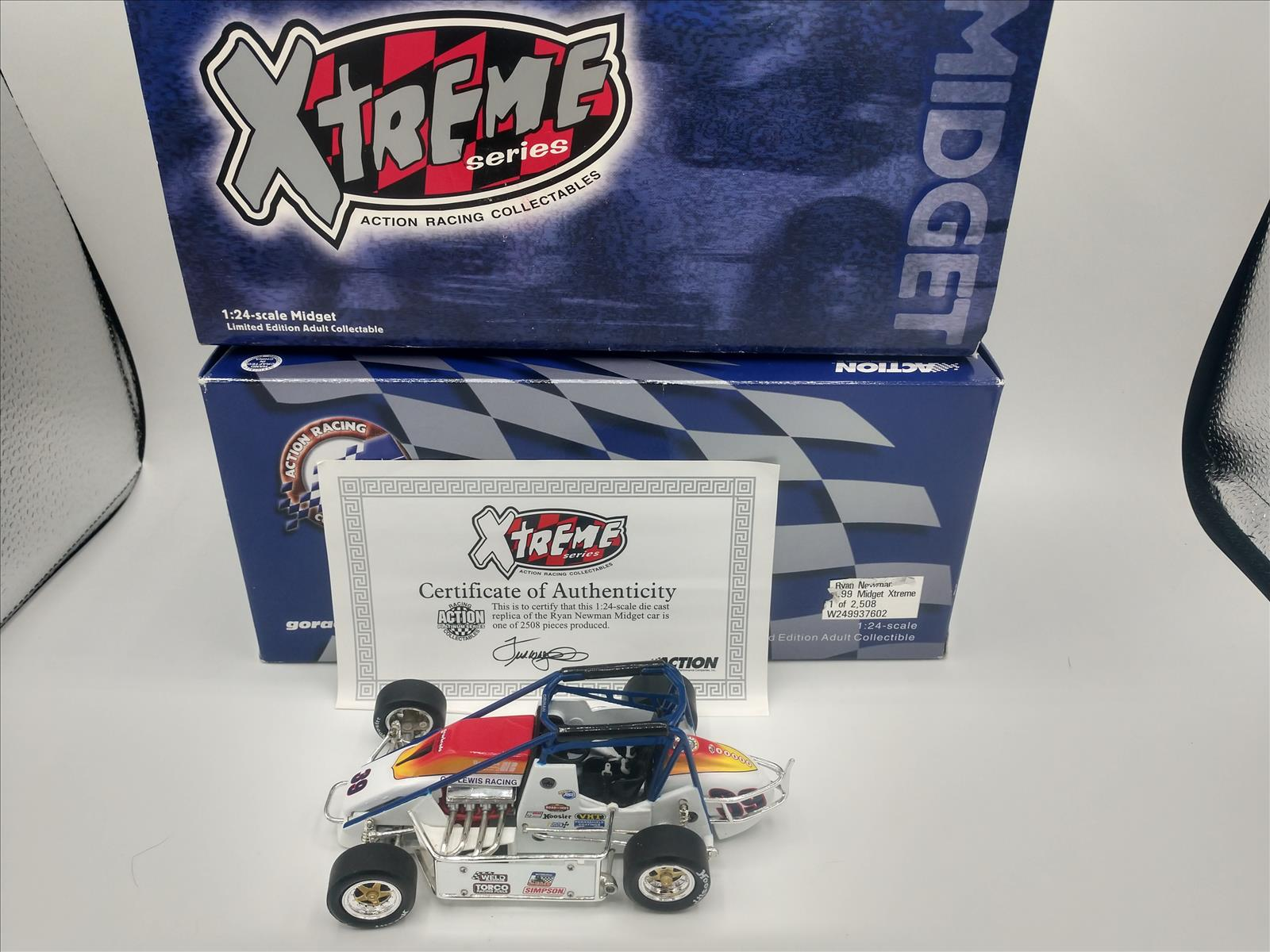 39 Ryan Newman Diecast 1999 Lewis Racing Gearheads USAC Silver Crown Midget Xtreme 1:24 Action ARC 1