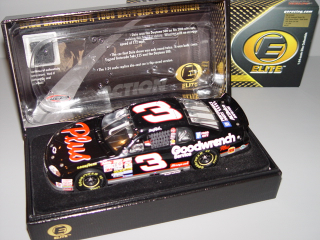 1998 Dale Earnhardt Sr NASCAR Diecast 3 Plus GMGW GM Goodwrench Daytona 500 Winner CWC 1:24 Action RCCA Elite Raced Version with Tire 1