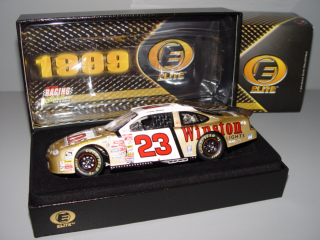 1999 Jimmy Spencer NASCAR Diecast 23 Winston Lights Gold CWC 1:24 Action RCCA Elite 1