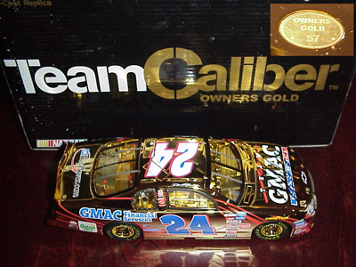 2001 Ricky Hendrick NASCAR Diecast 24 GMAC CWC 1:24 Team Caliber Owners Gold 1