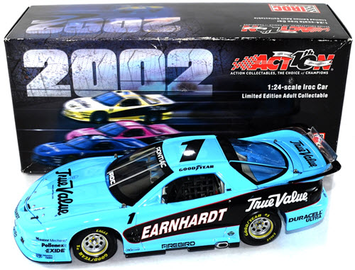 1 Dale Earnhardt Sr Diecast 2000 True Value IROC Firebird Light Blue Championship 2002 CWC 1:24 Action ARC 1