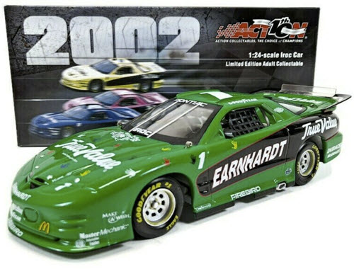 1 Dale Earnhardt Sr Diecast 2001 True Value IROC Firebird Green Make A Wish 2002 CWC 1:24 Action ARC 1