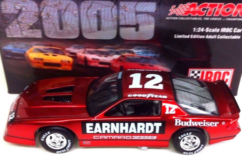 12 Dale Earnhardt Sr Diecast 1987 Bud Budweiser IROC Camaro Z28 Red 2005 CWC 1:24 Action ARC Liquid Color 1