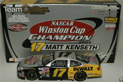 17 Matt Kenseth Diecast 2003 DeWalt Winston Cup Victory Lap CWC Team Caliber Owners 1