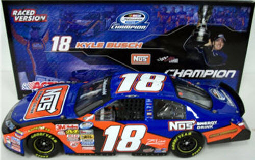 18 Kyle Busch Diecast 2009 NOS Nationwide Champ Champion Raced Version CWC 1:24 Action ARC 1