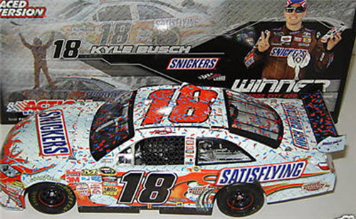 18 Kyle Busch Diecast 2009 Snickers Btistol Win Raced Version CWC 1:24 Action ARC 1