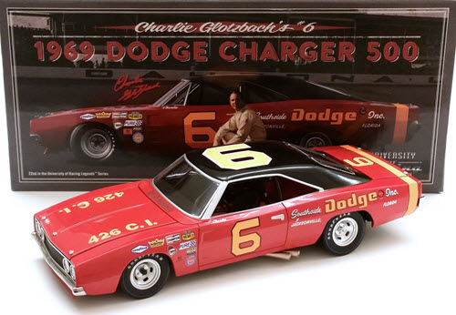1969 Charlie Glotzbach NASCAR Diecast 6 Southside Dodge CWC 1:24 University of Racing 1