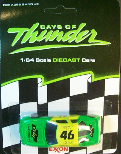 1990 Cole Trickle NASCAR Diecast 46 Days Of Thunder City Chevy Chevrolet CWC 1:64 Racing Champions Exxon Promo 1