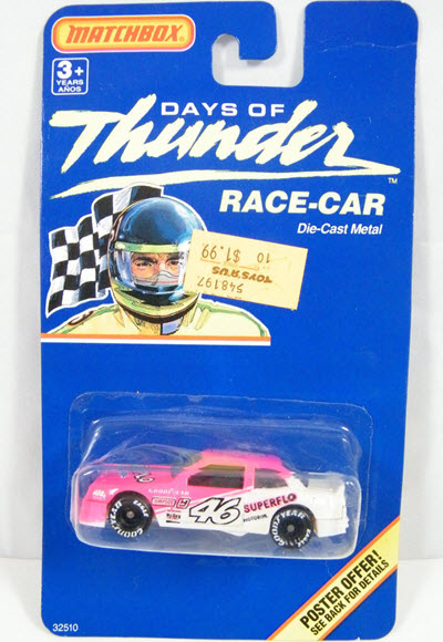 1990 Cole Trickle NASCAR Diecast 46 Superflo Days Of Thunder CWC 1:64 Matchbox Perpindicular 1