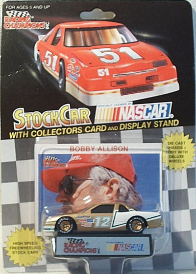 1991 Bobby Allison NASCAR Diecast 12 Allison Motorsports CWC 1:64 Racing Champions RC Tires 1