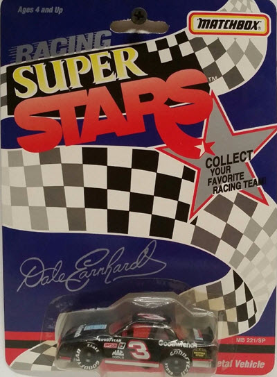 1992 Dale Earnhardt Sr NASCAR Diecast 3 GMGW GM Goodwrench CWC 1:64 Matchbox Super Stars 1