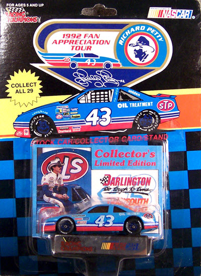 1992 Richard Petty NASCAR Diecast 43 Fan Appreciation Tour CWC 1:64 Racing Champions Darlington March 29 1