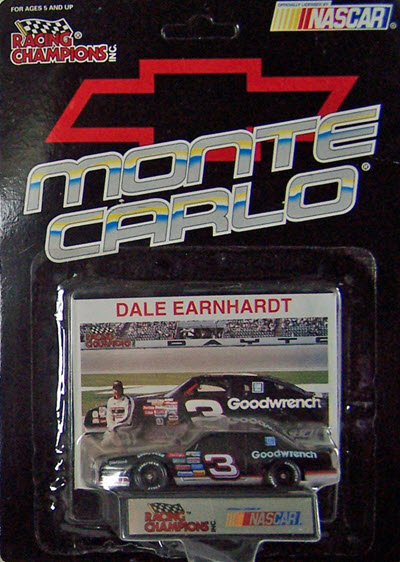 1993 Dale Earnhardt Sr NASCAR Diecast 3 GMGW GM Goodwrench CWC 1:64 RC Racing Champions Monte Carlo Promo Black Hat 1