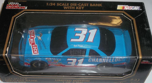 1994 Tom Peck NASCAR Deicast 31 Channellock BWB 1:24 Racing Champions 1994 Edition Bank 1