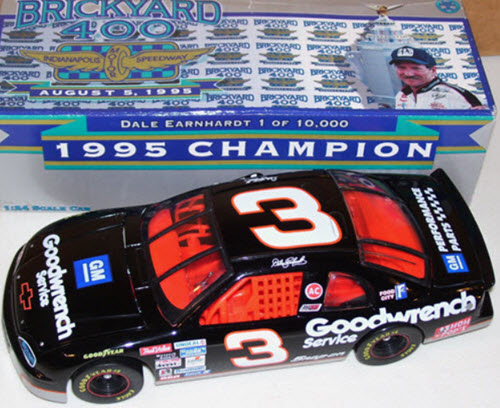 1995 Dale Earnhardt Sr NASCAR Diecast 3 GMGW GM Goodwrench Brickyard Indy Indianapolis CWC 1:24 Action ARC 1