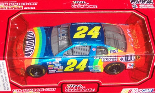 1995 Jeff Gordon NASCAR Diecast 24 Dupont CWC 1:24 Racing Champions 1995 Edition with White Coca Cola 1
