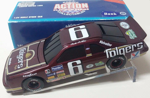 1995 Mark Martin NASCAR Diecast 6 Folgers BWB Bank 1:24 Action ARC 1