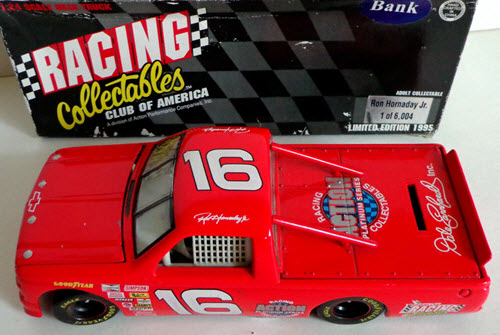 1995 Ron Hornaday NASCAR Diecast 16 Red Action ARC Truck Supertruck 1:24 Action RCCA 1