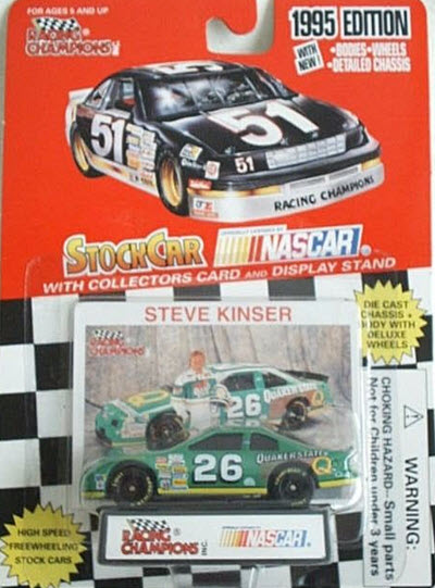 1995 Steve Kinser NASCAR Diecast 26 Quaker State CWC 1:64 Racing Champions 1995 Edition 1