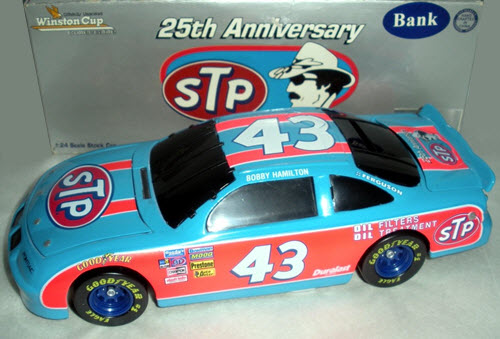 1996 Bobby Hamilton NASCAR Diecast 43 STP 25th Anniversary 1979 Blue Red BWB Bank 1:24 Action ARC 1