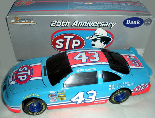 1996 Bobby Hamilton NASCAR Diecast 43 STP 25th Anniversary 1984 Blue Red BWB Bank 1:24 Action ARC 1