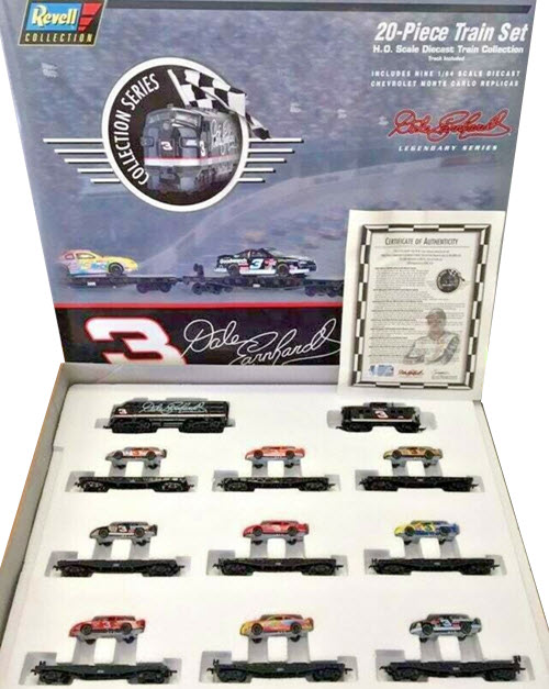 1996 Dale Earnhardt Sr NASCAR Diecast 3 GM Goodwrench Olympics Bass Pro Train Set Revell 20 Piece 1