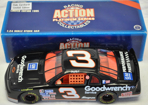 1996 Dale Earnhardt Sr NASCAR Diecast 3 GMGW GM Goodwrench CWC 1:24 Action ARC Orange and Black Interior 1