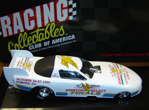 1996 NHRA Diecast Winston Select World Finals Pocono Funny Car 1:24 Action RCCA 2