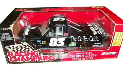 1996 Steve Portenga NASCAR Diecast 83 Mission Coffee Truck 1:24 Racing Champions Premier 1