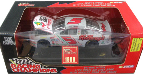 1996 Terry Labonte NASCAR Diecast 5 Kelloggs Iron Man CWB Bank 1:24 Racing Champions Premier 1