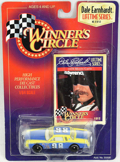 1997 Dale Earnhardt Sr NASCAR Diecast 98 Unsponsored 1978 CWC 1:64 WInners Circle With LTS Logo 1