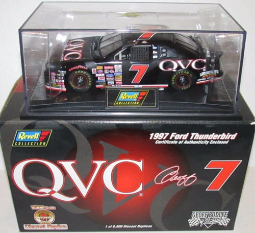 1997 Geoffrey Bodine NASCAR Diecast 7 QVC CWC 1:24 Revell Collection 1