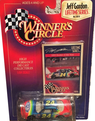 1997 Jeff Gordon NASCAR Diecast 24 DuPont Rainbow CWC 1:64 Winners Circle 6 of 6 LTS 1993 ROTY Car Photo 1