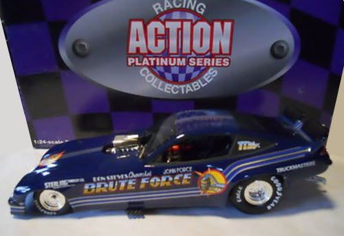 1997 John Force NHRA Diecast Brute Force 1977 Monza Funny Car 1:24 Action ARC 1