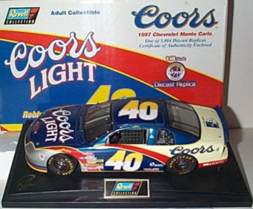 1997 Robby Gordon NASCAR Diecast 40 Coors Light CWC 1:24 Revell Collection 1