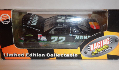 1997 Ward Burton NASCAR Diecast 22 MBNA Black CWC 1:64 Action RCCA Club Car 1