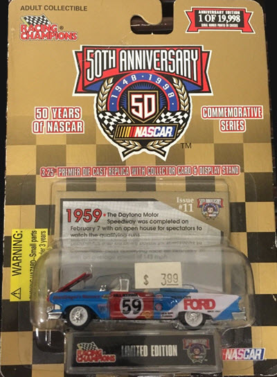 1998 50 Years Of NASCAR 1959 City 59 Ford Convertible CWC 1:64 Racing Champions 1