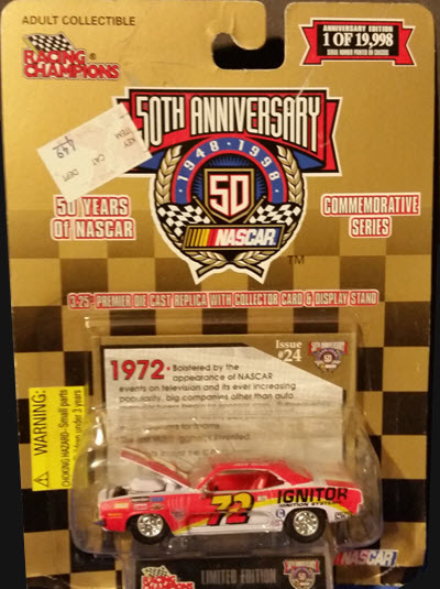 1998 50 Years Of NASCAR 1972 Jeff Doot Ignitor 72 Barracuda CWC 1:64 Racing Champions 1