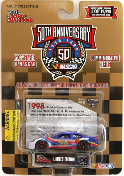 1998 50 Years Of NASCAR 1998 NASCAR 98 Taurus CWC 1:64 Racing Champions 1